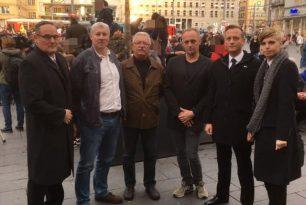 Unsere Stadträte und unser Landesvorsitzender MdB Martin Reichardt beim zentralen Gedenken an der Marktkirche