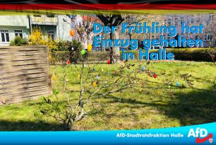 Der Frühling hat Einzug gehalten in Halle