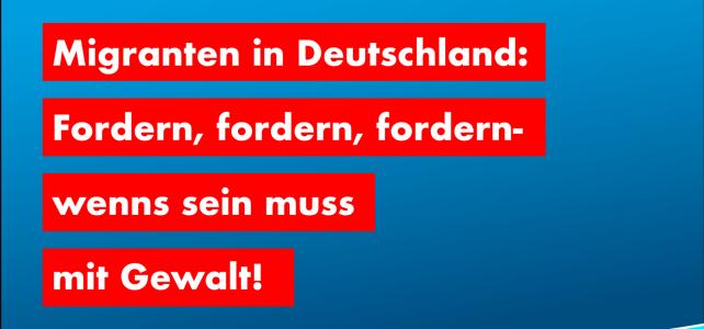 Migranten in Deutschland – Fordern, fordern, fordern – Maßlosigkeit und Gewalt!