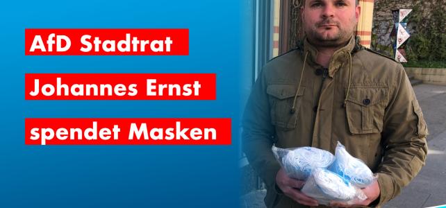 AfD Stadtrat spendet Masken