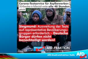Corona-Testservice für Asylbewerber in der ZASt Halberstadt