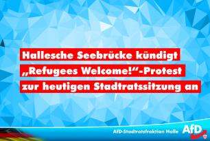 """Hallesche Seebrücke kündigt """"Refugees Welcome!""""-Protest zur heutigen Stadtratssitzung an"""