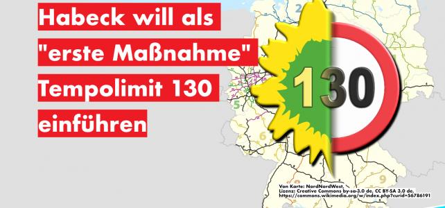 """Habeck will als """"erste Maßnahme"""" Tempolimit 130 einführen"""