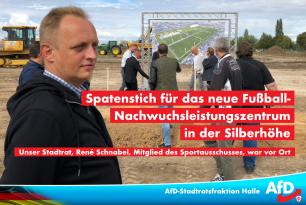 Spatenstich für das neue Fußball-Nachwuchsleistungszentrum in der Silberhöhe