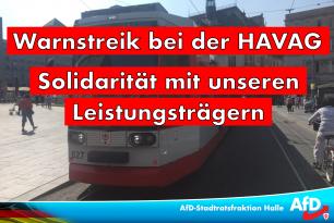 Warnstreiks bei der HAVAG- Wir fordern Solidarität mit unseren Leistungsträgern