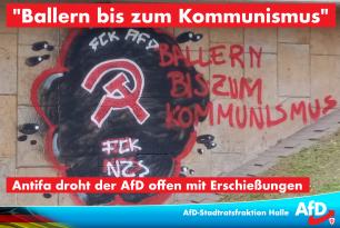 """""""Ballern bis zum Kommunismus"""" Antifa droht der AfD offen mit Erschießungen"""