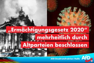 """""""Ermächtigungsgesetz 2020"""" mehrheitlich durch Altparteien beschlossen"""