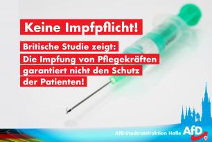 Keine Impfpflicht! Britische Studie zeigt: Die Impfung der Pflegekräfte garantiert nicht den Schutz der Patienten!