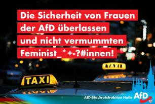 Die Sicherheit von Frauen der AfD überlassen und nicht vermummten Feminist_*+-?#innen!